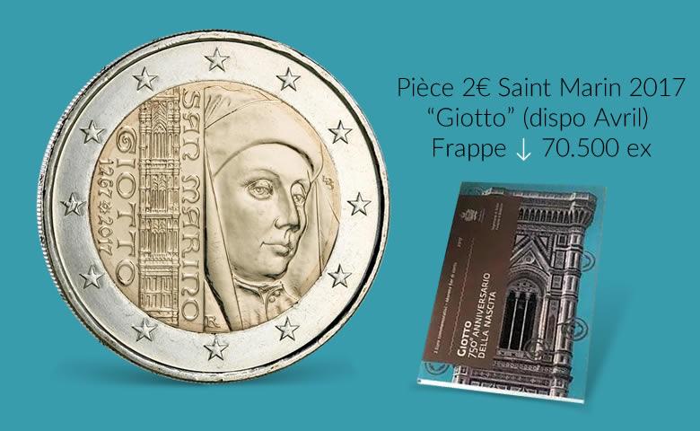 2 EURO SAINT MARIN 2017, GIOTTO