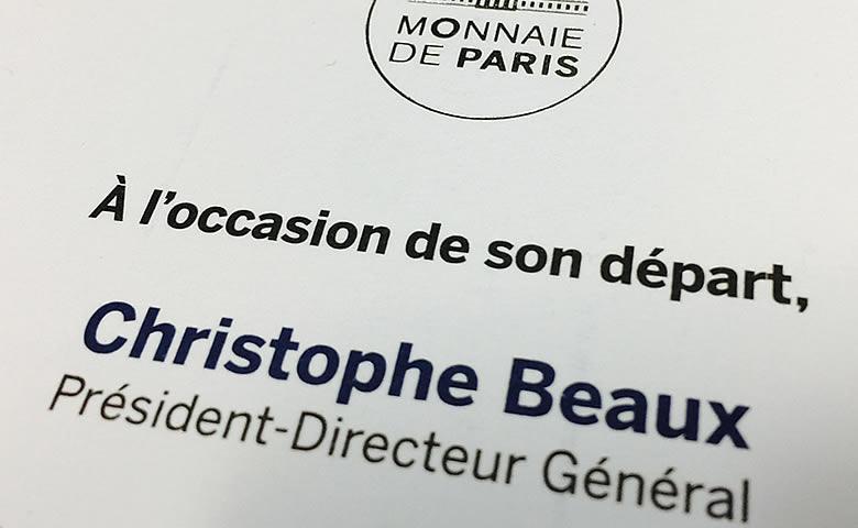 Carton invitation Monnaie de Paris 2017