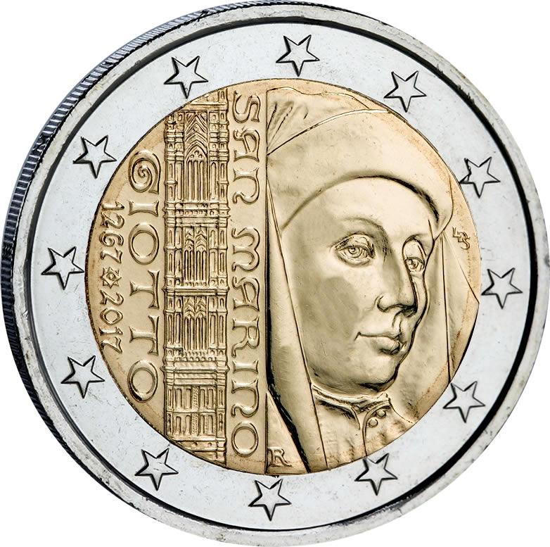 DEUX EURO SAINT MARIN 2017, GIOTTO