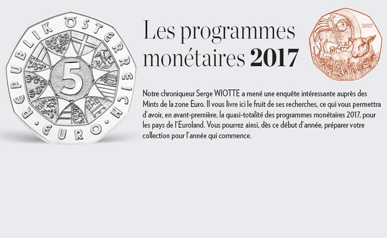 Programmes monétaires 2017