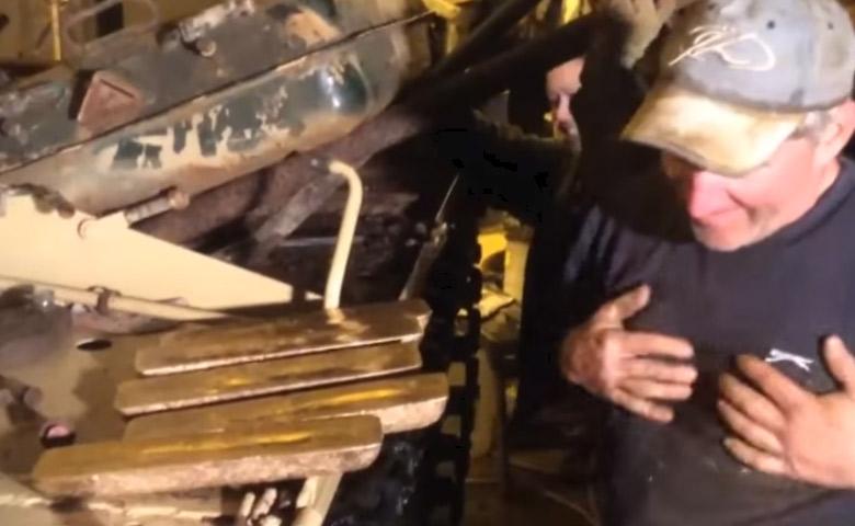 De l'or découvert dans un tank en restauration ! [Vidéo]