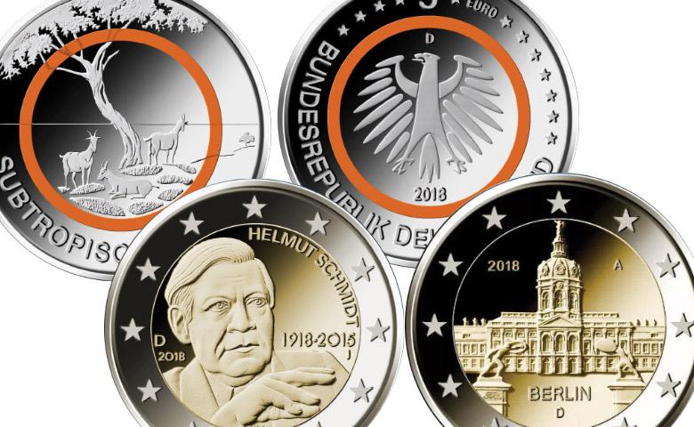 L'Allemagne prépare ses monnaies de 2018 !