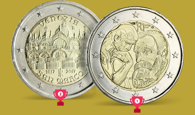 Sondage 2 euros commémorative préférée