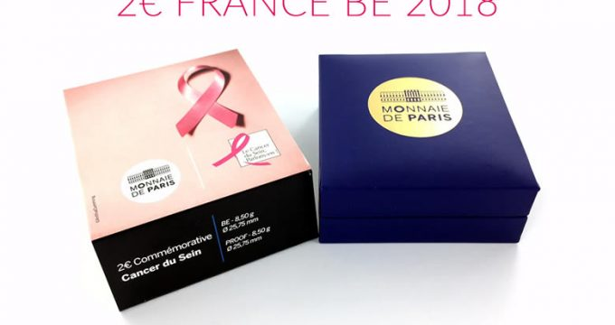 "2 euros commémorative nationale 2017, ""Le cancer du sein : 25 ans du ruban rose"""