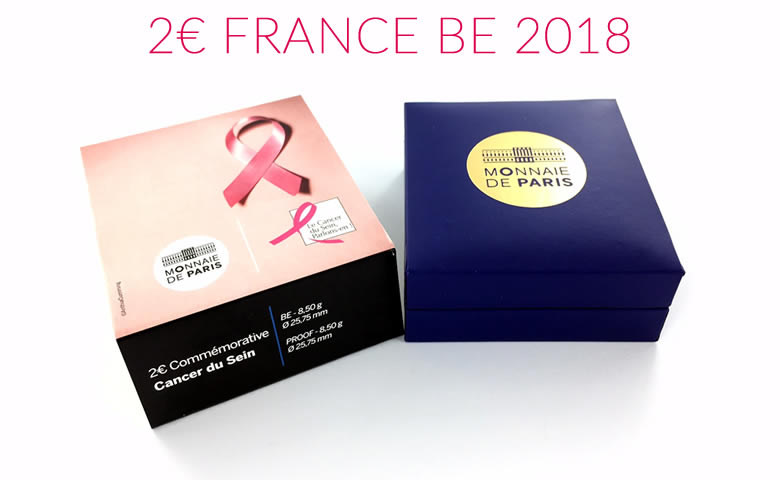 2 euros 2017 - Cancer du sein : 25 ans du ruban rose