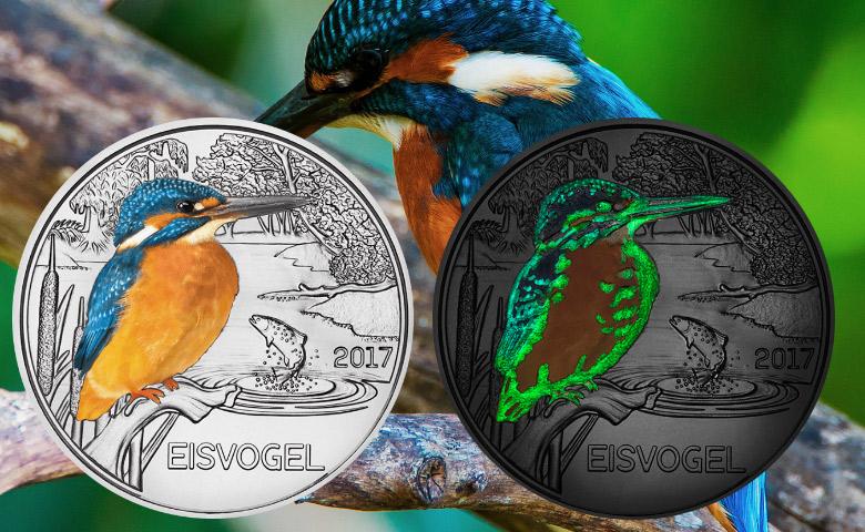 3 euros Autriche 2017 - Le Martin-pêcheur