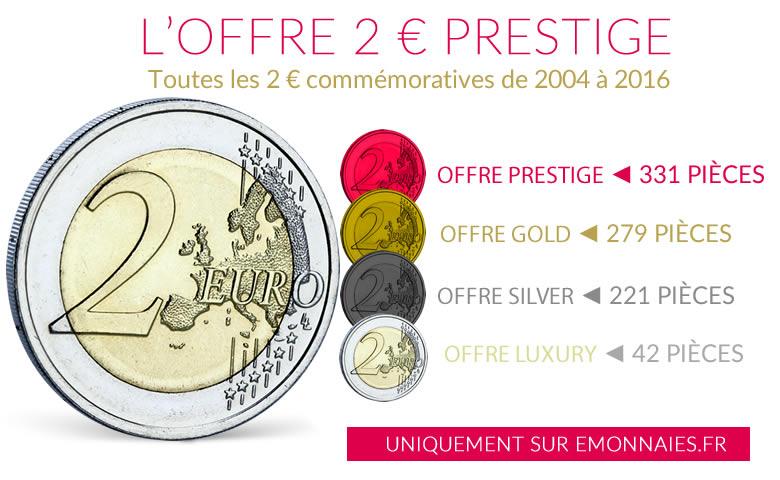 La plus grande offre de pièces de 2 euros commémoratives est sur emonnaies.fr