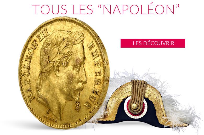 Napoléon les pièces en or