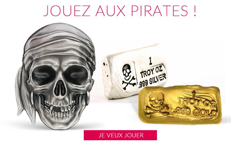 Têtes de morts et pirates sont sur emonnaies.fr