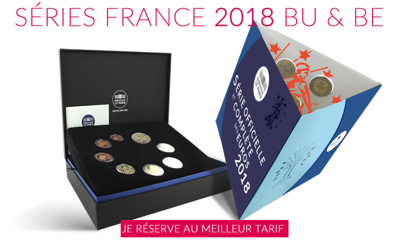 Monnaie de collection, Les séries BU et BE France 2018