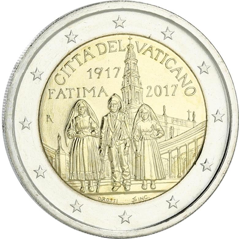 Fatima 2 € Vatican 2017 frappe BU