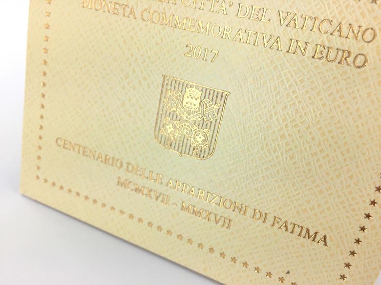 Blister officiel Fatima 2 € Vatican 2017 frappe BU