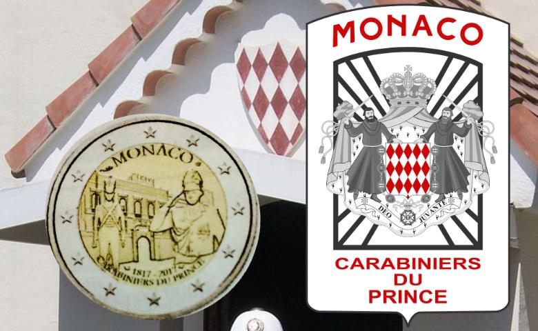 Les carabiniers pour la 2 euros Monaco 2017