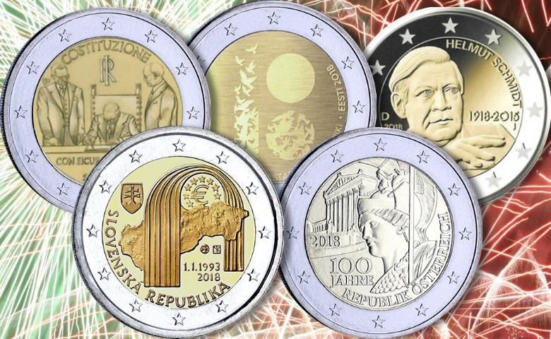 Les premières 2 euros commémoratives 2018 !