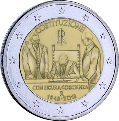 2 euros commémoratives 2018