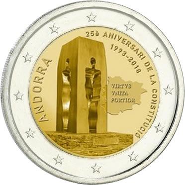 2 euros Andorre 2018