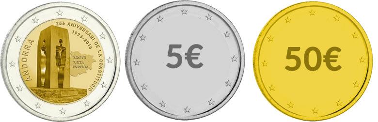 2 euros andorre 2018 25 ans de la constitution monnaie magazine. Black Bedroom Furniture Sets. Home Design Ideas