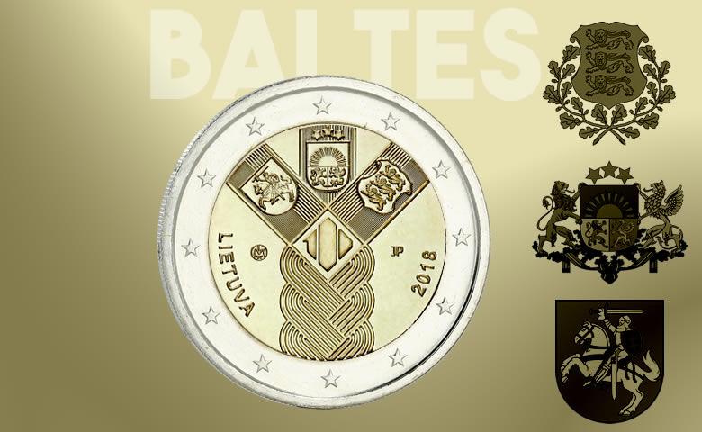 2 € des pays baltes 2018  (Estonie, Lituanie & Lettonie)