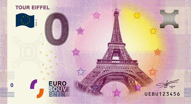Billet touristique 0€, Tour Eiffel