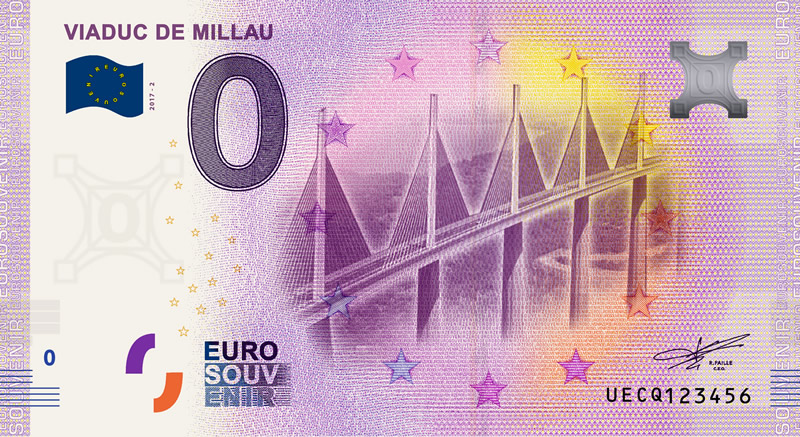 Billet touristique 0€, Viaduc De Millau