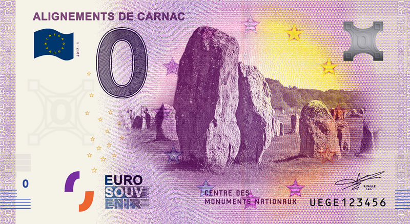 Billet touristique 0€, Alignements de Carnac