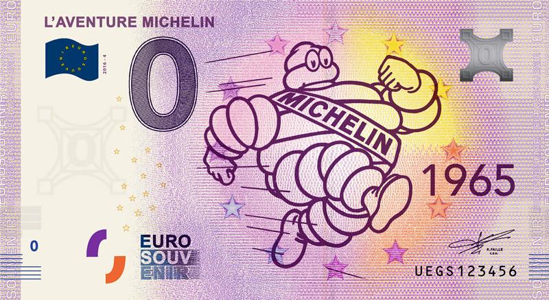 Billet touristique 0€, Michelin