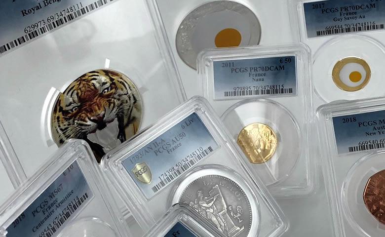Nouvel arrivage de Monnaies gradées PCGS (VIDÉO)