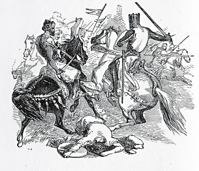 Richard Coeur de Lion et Saladin lors de la troisième croisade.