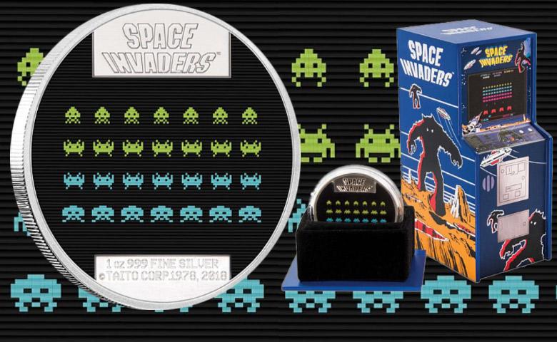 Niue  célèbre les 40 ans de Space Invaders