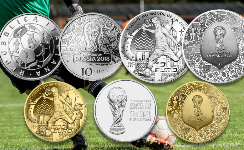 Les monnaies pour la Coupe du Monde de Football 2018