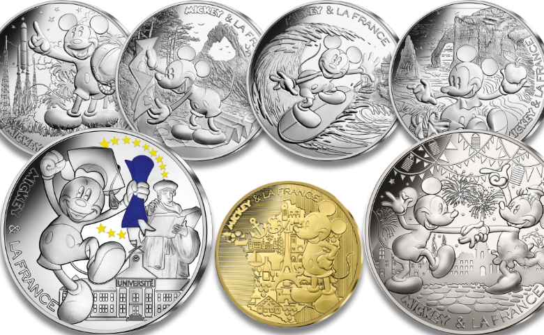 Mickey et la France par la Monnaie de Paris