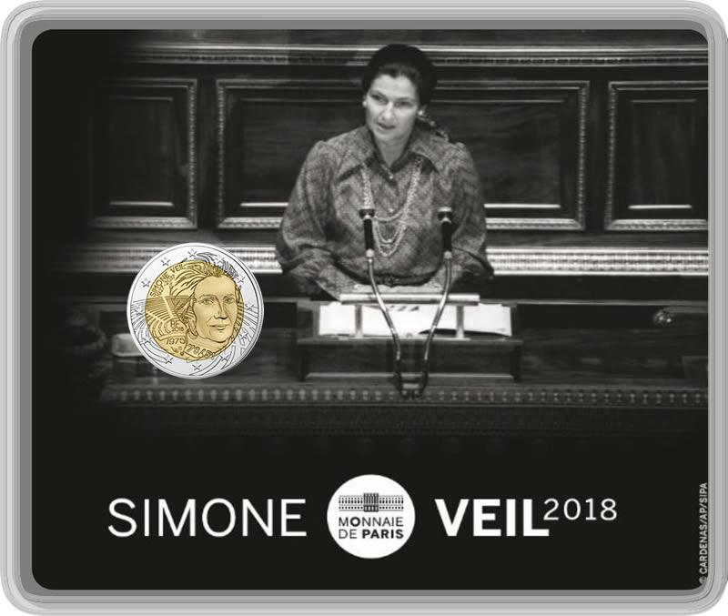 2 euro BU Simone Veil
