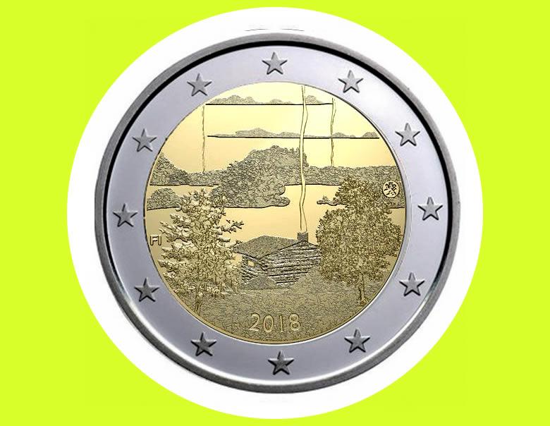 2 euros commémorative nationale 2018, PATRIMOINE CULTUREL FINLANDAIS :  LE SAUNA
