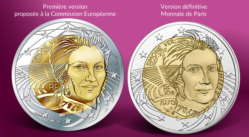 SIMONE VEIL 2 euros commémo France 2018