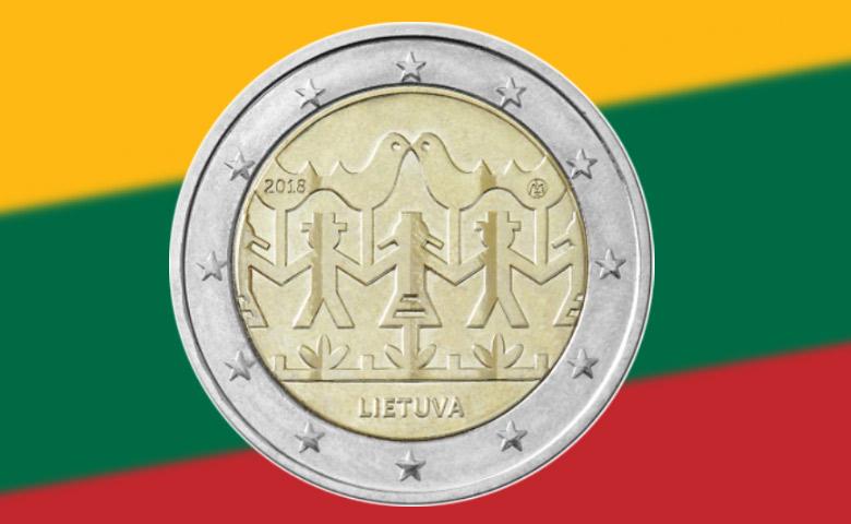 Chants et Danses pour la 2 euros Lituanie 2018