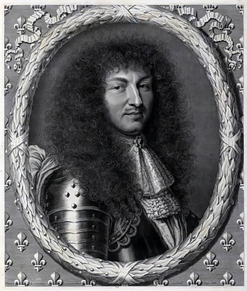 Portrait de Louis XIV par Robert Nanteuil, vers 1670.