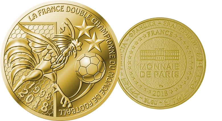 La médaille Coupe du Monde de Football France 2018 - Monnaie de Paris 2018