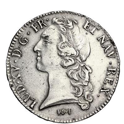 Écu d'Argent au bandeau frappé à Bordeaux en 1766