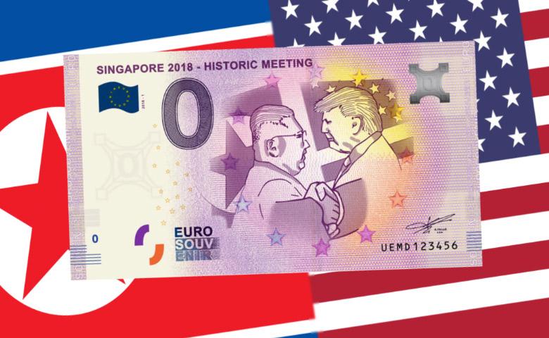 Vidéo - La rencontre Trump et Kim Jong-Un a son billet 0 Euro souvenir !