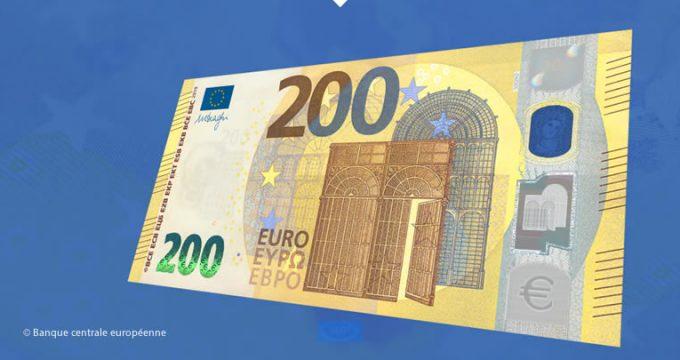 Conférence de presse de présentation billets de 100 et 200 €