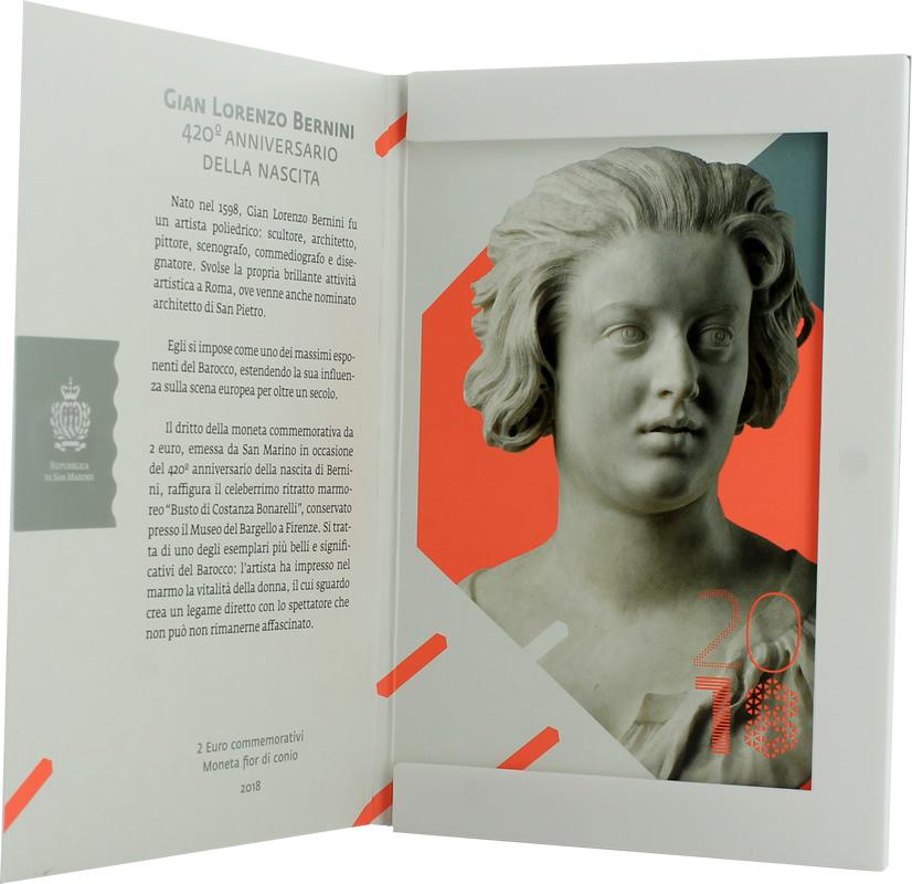 PREMIERES PHOTOS - 2 EUROS SAINT MARIN 2018 - 420 ANS DE BERNINI