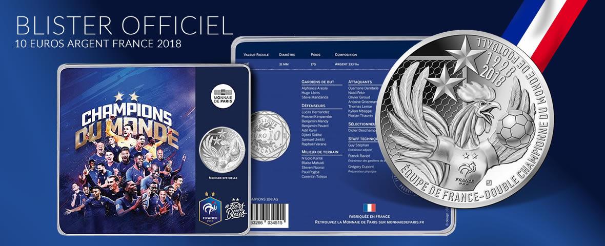 10 € argent 2018 Coupe du Monde