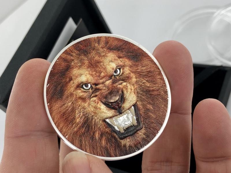 Le roi lion sur une 2 onces Argent TANZANIE 2018