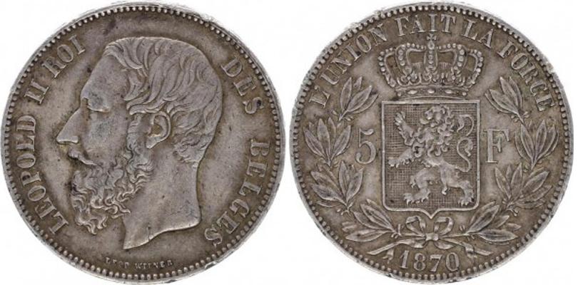 5 Francs Léopold II