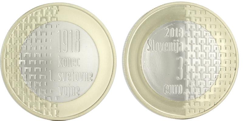 3 euros 2018 Slovénie