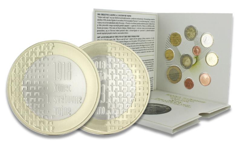 3 euros Slovénie 2018 - 100 ans fin Guerre 14-18