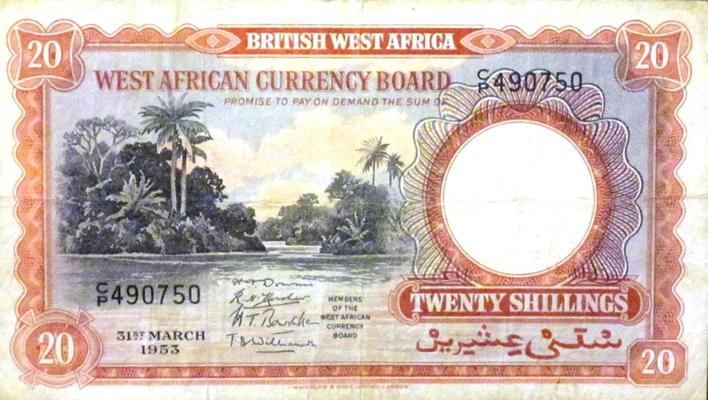 20 Shillings 1953
