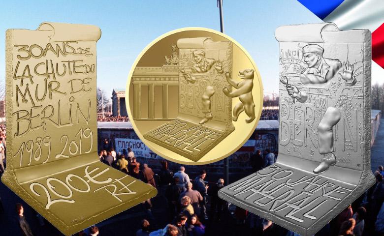 France : Nouvelles pièces pour la Chute du Mur de Berlin