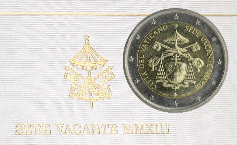 "2 euros commémo. 2013 : Vatican ""Siège Vacant"""