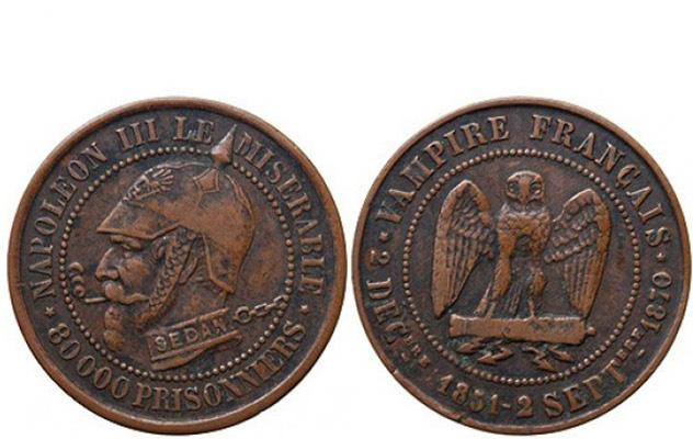 5 centimes satirique Napoléon III